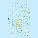 1ks vánoční 2d plastové Twinkle nehty umělecké ozdobné nášivky trvat 11 stylů