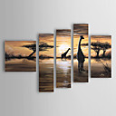 handgemalte Landschaft Ölgemälde mit gestreckten Rahmen - von 5 gesetzt