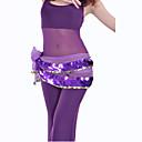 dancewear šifona sa 220 bakrenih novčića / paillettes trbušnog plesa hip šal za dame više boja