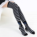 Stripe Skull Pattern 40cm Punk Lolita Stockings