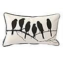 鳥の囁きプリント装飾的な枕カバー