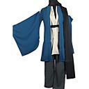 Inspirovaný Nurarihyon vnuk Kubinashi Anime Cosplay kostýmy Cosplay šaty / Kimono Jednobarevné Niebieski Dlouhé rukávyKabát / Kimono /