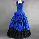 ワンピース/ドレス ゴスロリータ ヴィクトリアン コスプレ ロリータドレス ブルー パッチワーク ノースリーブ ロリータ ドレス のために 女性 コットン