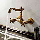 Sprinkle® Kuhinjske slavine  ,  Starinski / Tradicionalno  with  Antique Brass Two Handles Two Holes  ,  svojstvo  for Waterfall