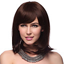 Capless Medium Straight 100% Human Hair Wigs with 2 Colors to Choose