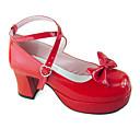 Cipele Sweet Lolita Ručno Izrađen Štiklu Cipele Jednobojni 8 CM Srebrna Za Žene Umjetna koža/Polyurethane Leather