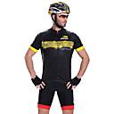 MYSENLAN Kolo/Cyklistika Dres / Vrchní část oděvu Pánské Krátké rukávy Prodyšné / Rychleschnoucí / Přední zip / Nositelný Polyester Černá