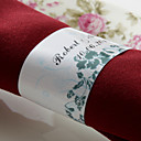 Personalized Paper Napkin Ring - Nice Flowers (Set of 50) (Set of 50)