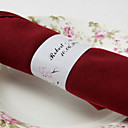 Personalized Paper Napkin Ring - Happy Couple (Set of 50)