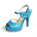 Ženske cipele - Sandale / Salonke / štikle - Formalne prilike - Umjetna koža - Stiletto potpetica - Otvorene salonke - Plava / Bijela