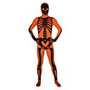Zentai kombinézy Ninja Zentai Cosplay kostýmy Černá / Oranžová Tisk Leotard/Kostýmový overal / Zentai Lycra Unisex Halloween / Vánoce