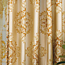 dva panely Paisley žlutá ložnice polyester panelové záclony závěsy