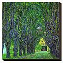 Strom-lemované silnice vedoucí k Manor House v Kammer, Horní Rakousko, 1912 Claude Monet Famous Reprodukce na plátně