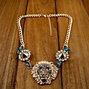 Dámská móda Luxusní Lví hlavy nýtu přívěskem náhrdelník