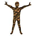 Zentai se vzorem Ninja Zentai Cosplay kostýmy Zelená Tisk Leotard/Kostýmový overal / Zentai Lycra Dítě Halloween / Vánoce