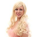 Capless 20% Lidské vlasy dlouhé vlnité blond vlasy Paruky