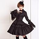 Izgledi Gothic Lolita Lolita Cosplay Lolita Haljine Crn Jednobojni Dugi rukav Srednja dužina Bluza / Suknja Za Žene Pamuk