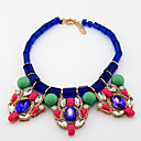 Elegant Alloy With Rhinestone/Resin Women's Necklace