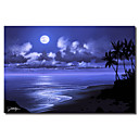 Tiskano Canvas Art san Moonlight Jon Rattenbury s Strethed Frame