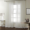 Dva panely Window Léčba Moderní , S proužky Ložnice Polyester Materiál Sheer Záclony Shades Home dekorace For Okno