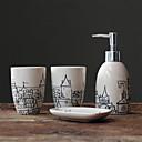 Nostalgia Veneto City Sketches Painted Ceramic Bathroom Set
