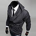 Muška jakna s kapuljačom, kosi patent zatvarač, pamuk