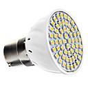 5W B22 LED bodovky 60 SMD 3528 240 lm Teplá bílá AC 220-240 V