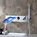 Sprinkle® 浴室用水栓  ,  コンテンポラリー  with  クロム シングルレバー 五つ  ,  特徴  for LEDタイプ / 滝状吐水タイプ / 壁式