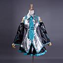 Inspirirana Vocaloid Hatsune Miku Video igra Cosplay nošnje Cosplay Suits / Dresses Kolaž Bez rukavaShirt / Suknja / Kravata / Rukavi /