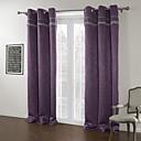 Moderní dva panely pevné fialové obývací pokoj polyester zatemňovací závěsy závěsy