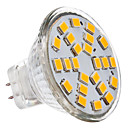 3W GU4(MR11) LEDスポットライト MR11 24 SMD 2835 230 lm 温白色 DC 12 / AC 12 V