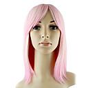 Capless Top Grade syntetickém médiu Straight Pink Módní vlasy Paruky