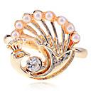 Lureme Alloy Pearl Gold Nastavitelný prsten
