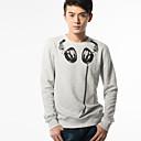 Kulatý Fitspace Pánské Neck Sweater Květinová Gray