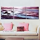 3個セットキャンバスアートの風景海の波