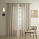 (二つのパネル)の古典的なストライプリネン/綿省エネカーテン