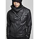Snění Uomo Pánské Black korejský Casual Slim Fit osobnosti Kožená bunda
