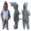 Kigurumi Pidžame Shark Hula-hopke/Onesie Halloween Zivotinja Odjeća Za Apavanje Sive boje Kolaž Terilen Kostimi Dijete Halloween