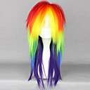 Lolita Wigs Punk Lolita Zářící barvy Střední / Rovné Červená / Zelená / Žlutá Lolita Paruky 50 CM Cosplay Paruky Patchwork Paruka Pro