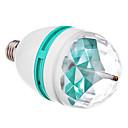 E27 3W 3xHigh napájení RGB LED bodová žárovka (85-265V)