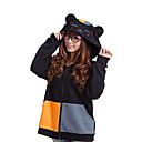 Kigurumi Pidžame Mačka Hoodie Halloween Zivotinja Odjeća Za Apavanje Crn Kolaž Pamuk Kigurumi Uniseks Halloween