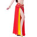 fascinantna izvedba šifon trbuh dvostruko boje plesati suknju za žene (više boja) bez remena