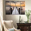 Protezala Canvas print umjetnosti Pejzaž Korak u jezeru Set od 4