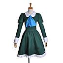 Inspirovaný Cosplay Mary Video Hra Cosplay kostýmy Cosplay šaty / Šaty Patchwork Zielony Dlouhé rukávy K šatům