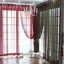 twopages®(1つのパネルのグロメット上)エレガントな固体薄手のカーテン