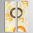 Ručně malované Abstraktní Vertikálně Dva panely Plátno Hang-malované olejomalba For Home dekorace