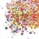 1KS Box Hollow Barevné pěticípá hvězda Nail Art dekorace