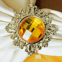 Diamond Wedding salvete Ring Set od 12, Metal Crystal Dia 4,5 cm
