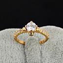 Yueli Dámské 18K Gold Zirkon prsten J1383