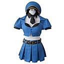 Inspirovaný LOL Cosplay Video Hra Cosplay kostýmy Cosplay šaty Patchwork Niebieski Vrchní deska / Sukně / Nabírané